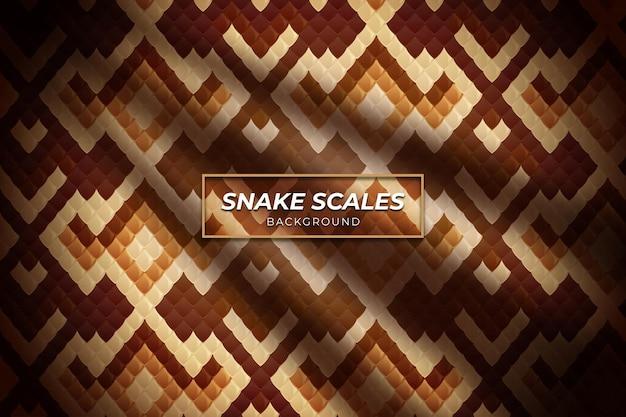 Motivo di sfondo a squame di serpente con colore marrone