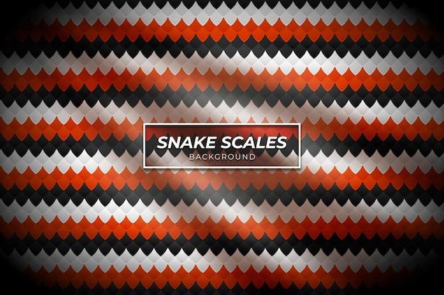 Motivo di sfondo a squame di serpente con colore rosso e nero