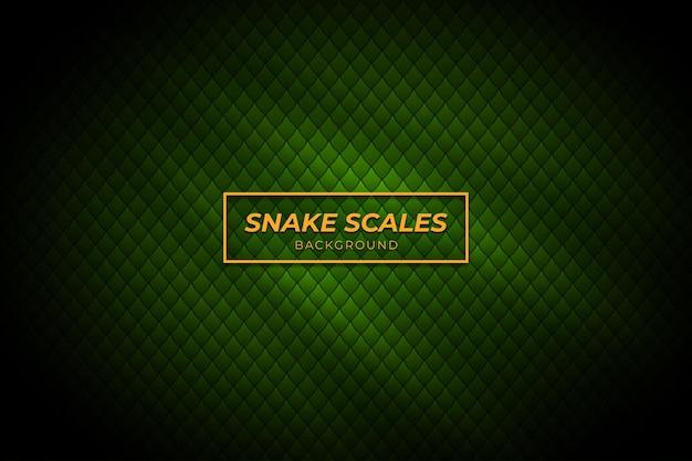 Sfondo di squame di serpente con colore verde