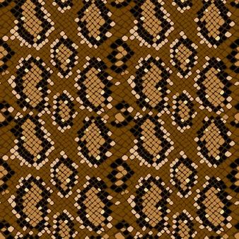 Texture di pelle di serpente senza cuciture che si ripete senza soluzione di continuità nel vettore. stampa alla moda, sfondo elegante