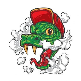 Il serpente fuma