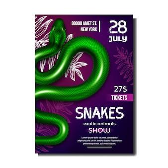 Poster di serpenti con animali esotici