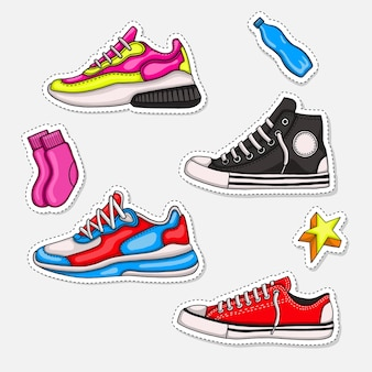 Illustrazione di sneaker per collezione di moda o collezione sportiva.