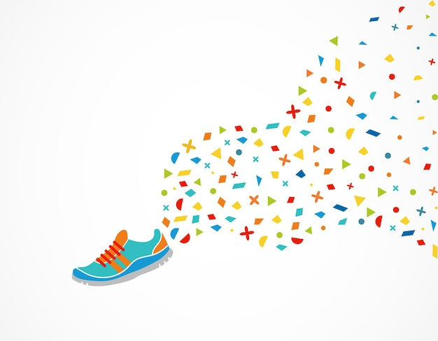 Sneaker con decoro colorato
