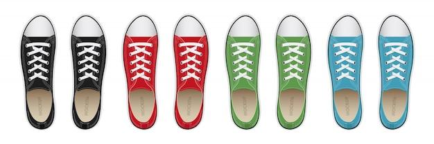 Illustrazione di progettazione delle scarpe da tennis isolata
