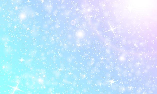 Sfondo di neve. nevicata invernale. fiocchi di neve bianchi su cielo blu. sfondo di natale. neve che cade. Vettore Premium