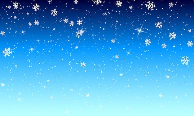 Neve sullo sfondo. nevicate invernali. .
