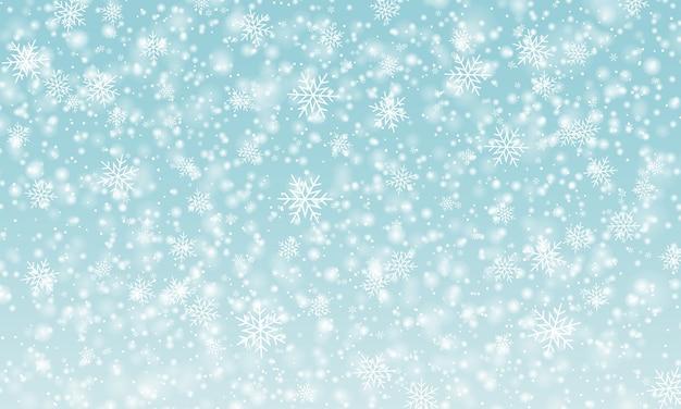 Sfondo di neve. nevicata invernale.