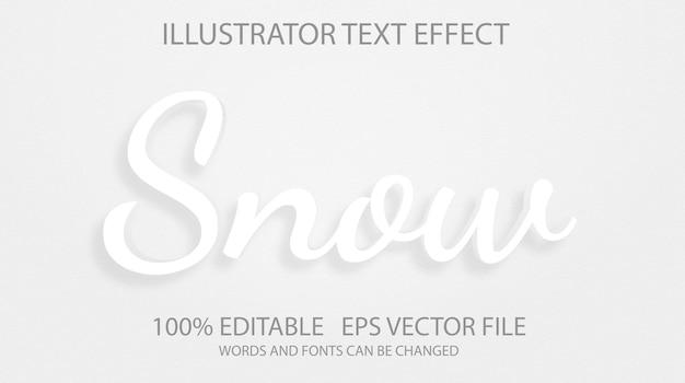 Modello di effetto stile testo neve