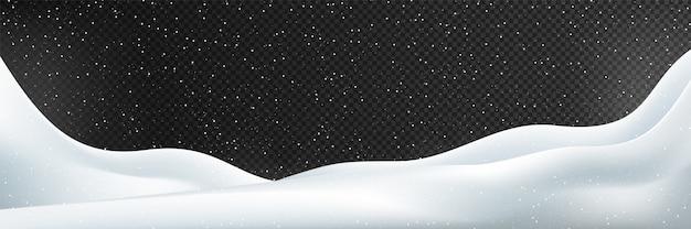 Neve. illustrazione di inverno isolato.