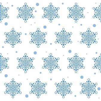 Fondo senza cuciture del campione del tessuto del tessuto del fiocco di neve di inverno della neve