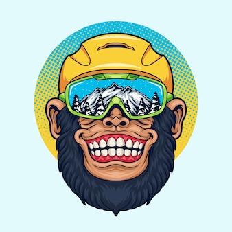 Scimmia di snowboarder