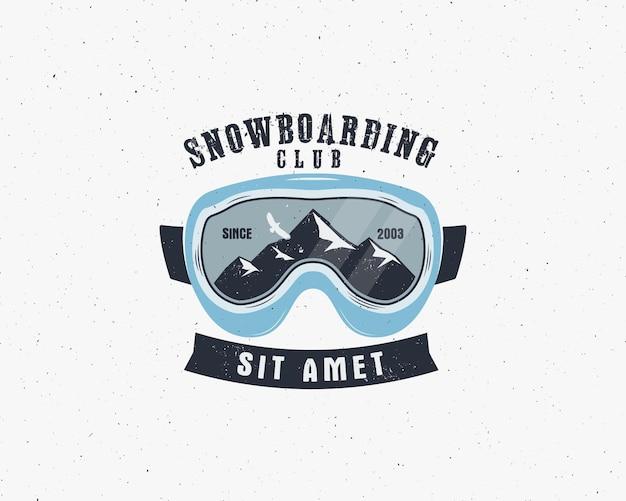 Occhiali da snowboard extreme logo