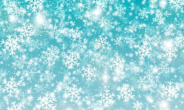 Sfondo fiocco di neve. neve che cade. illustrazione vettoriale. cielo di nevicata. sfondo invernale di natale.