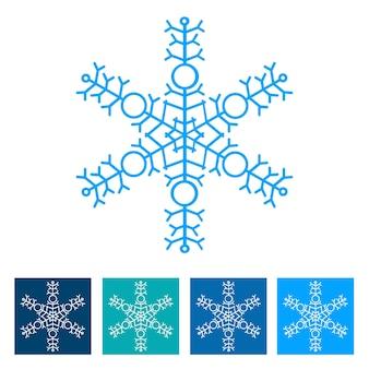 Fiocco di neve. icona del nuovo anno. illustrazione vettoriale