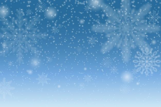 Effetto decorativo trasparente fiocco di neve. motivo a fiocchi di neve di natale. trama magica nevicata bianca. neve di natale. fiocchi di neve che cadono su sfondo trasparente.
