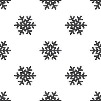 Fiocco di neve, motivo vettoriale senza soluzione di continuità, modificabile può essere utilizzato per sfondi di pagine web, riempimenti a motivo