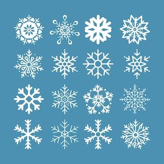 Vettori di fiocchi di neve. isolamento per sfondo.