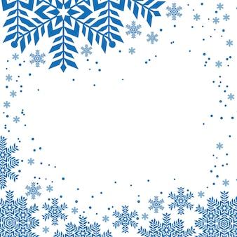 Design natalizio con fiocchi di neve per banner d'arte invernale
