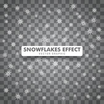 Priorità bassa trasparente isolata natale dei fiocchi di neve.