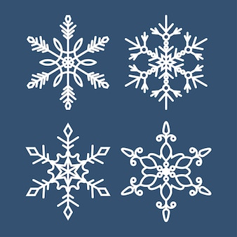 Set di icone di fiocchi di neve