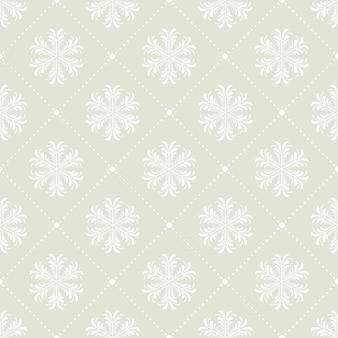 Modello di fiocchi di neve per sfondo invernale. illustrazione in stile creativo e retrò
