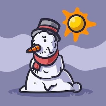 Illustrazione del pupazzo di neve