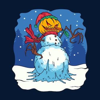 Illustrazione di mostri pupazzo di neve