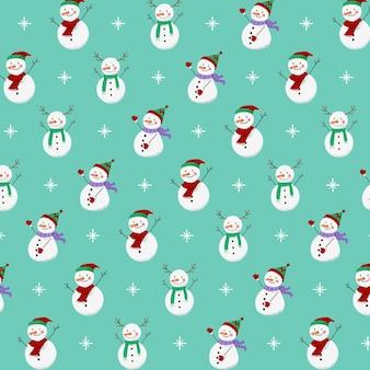 Collezione invernale bianco pupazzo di neve Vettore Premium