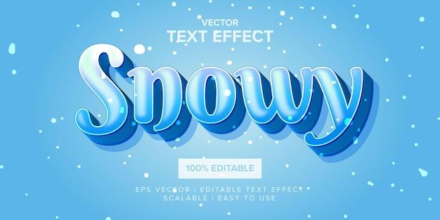 Effetto di testo modificabile nevoso