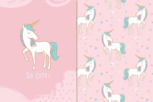 Motivo unicorno così carino