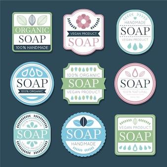 Collezione di etichette di sapone