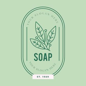 Modello di logo di sapone