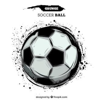 Fondo del pallone da calcio con struttura della pittura