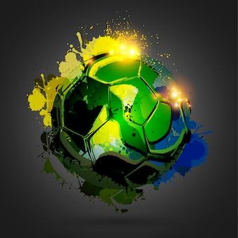Esplosione pallone da calcio su sfondo nero