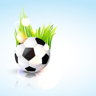 Pallone da calcio in azzurro