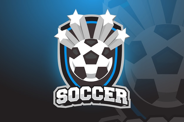 Pallone da calcio logo design for esports, sport team