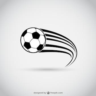 Pallone da calcio in movimento