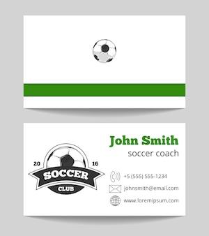 Biglietto da visita del club di calcio verde e bianco