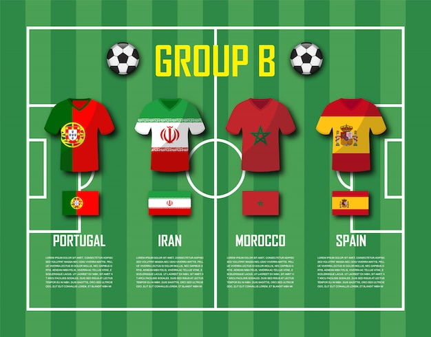 Soccer team 2018 gruppo b