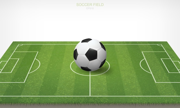 Sfera di calcio di calcio nel campo di calcio.