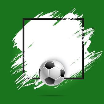 Calcio o coppa di calcio, palla sportiva, sfondo poster
