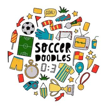 Scarabocchi di calcio di calcio