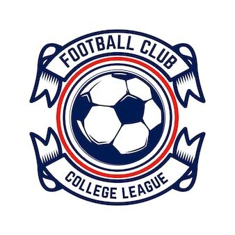 Calcio, emblemi di calcio. elemento di design per logo, etichetta, emblema, segno.