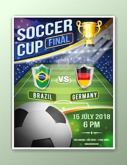 Poster di calcio calcio