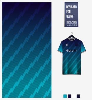 Disegno del modello del tessuto della maglia da calcio modello astratto su sfondo