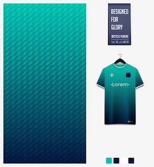 Disegno del modello del tessuto della maglia da calcio modello astratto su sfondo verde