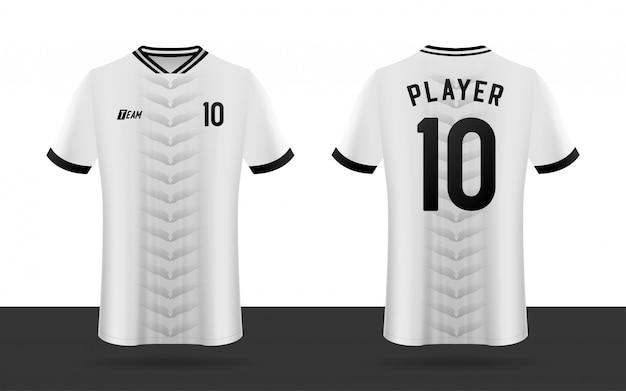 Maglia da calcio, maglia da calcio, maglia anteriore e posteriore della squadra sportiva.