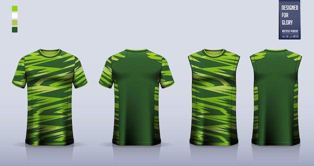Maglia da calcio, kit da calcio, divisa da basket o modello di abbigliamento sportivo.