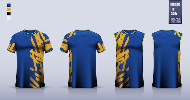 Maglia da calcio o kit da calcio modello mockup design canotta per maglia da basket o canotta da corsa